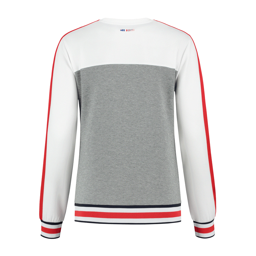 194234-990 | HERITAGE SPORT WARM-UP SWEAT | OX MEL / WHITE
