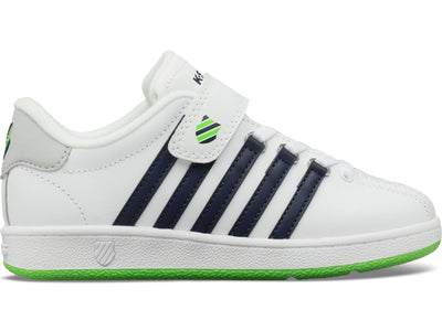 53446-939-M | LITTLE KIDS CLASSIC VN VELCRO | WHITE/NAVY/LIME GREEN