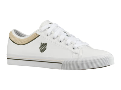 75450-145-M | UNISEX BRIDGEPORT II LEATHER | WHITE/RIFLE GREEN/WHISPER WHITE