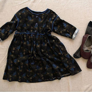 Marang Printed Dress, Black (6-7Y)