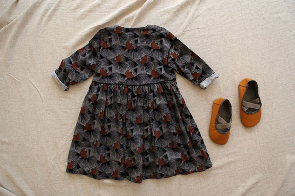 Marang Printed Dress, Grey (2-3Y)