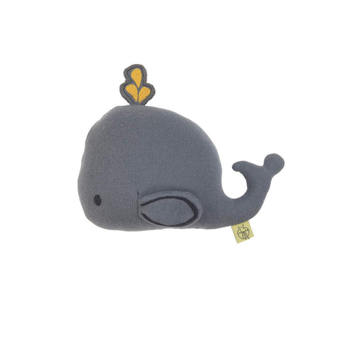 Lassig Knitted Rattle Toy, Little Water Whale