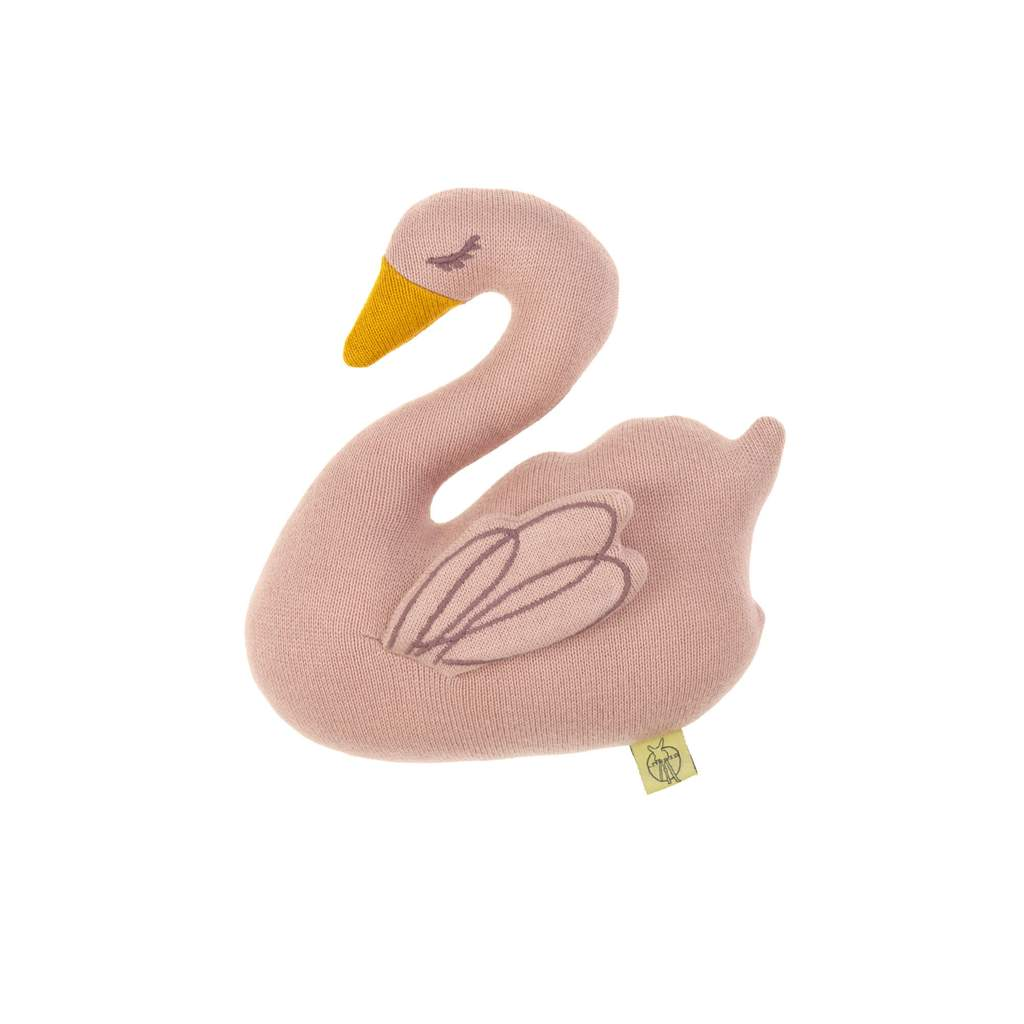 Lassig Knitted Rattle Toy, Little Water Swan
