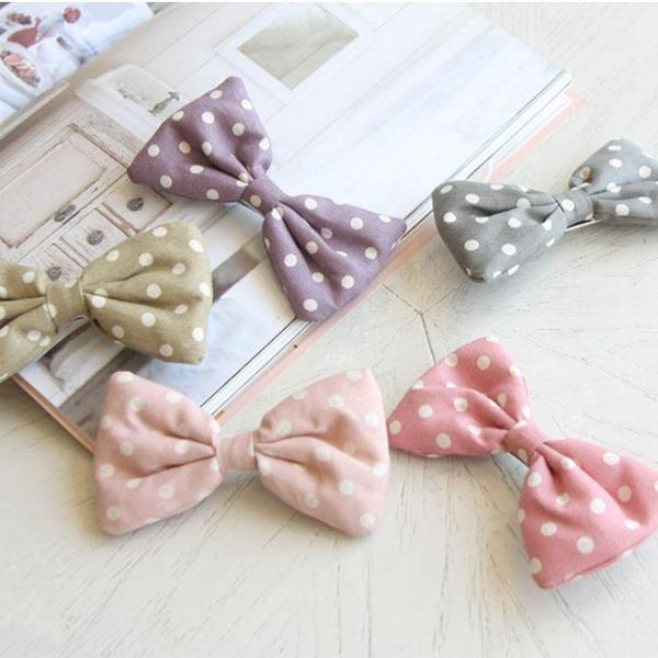 DOTTED RIBBON KIDS HAIR CLIP