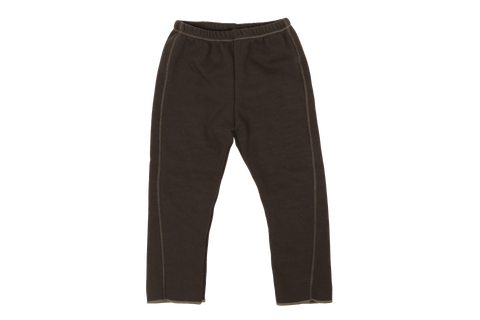 Eve Fleece Slim Pants, Brown