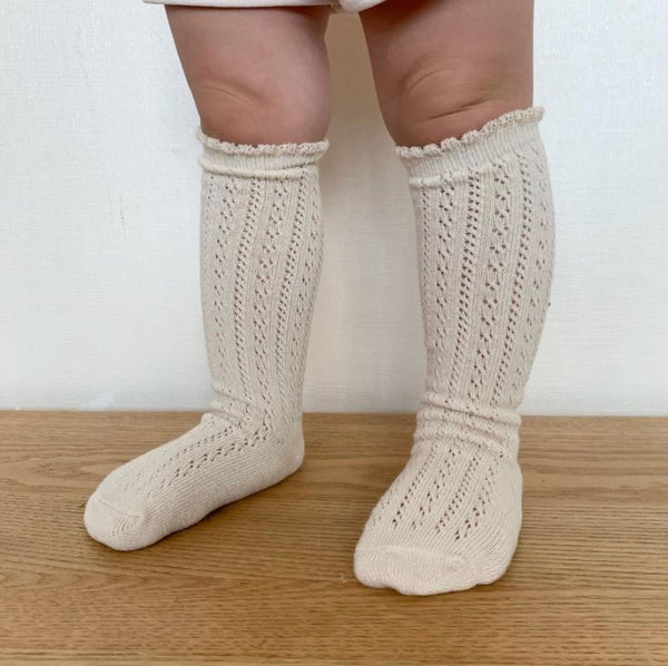 Crochet Lace Knee Socks Set