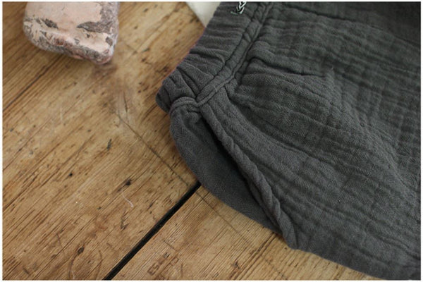 Natural Herringbone Trousers, Charcoal