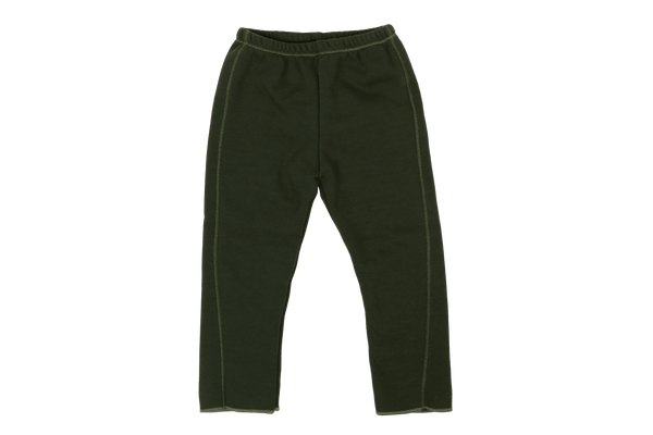 Eve Fleece Slim Pants, Khaki