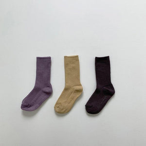 Fine Ribbed Socks Set, 2 colours