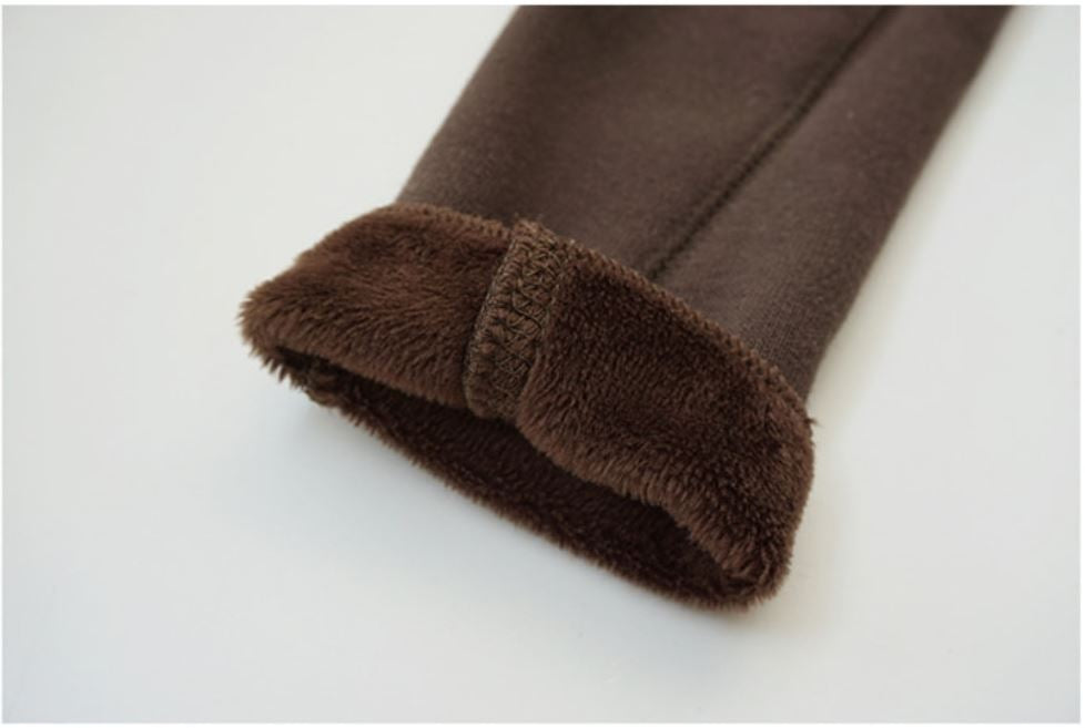 Fur Inner Leggings Pants, Chocolate (5-6)