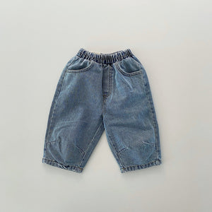Cropped Denim Pants