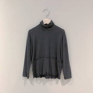 Soft Dream Turtleneck, Charcoal (5-6Y)