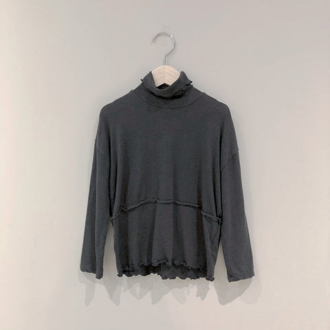 Soft Dream Turtleneck, Charcoal