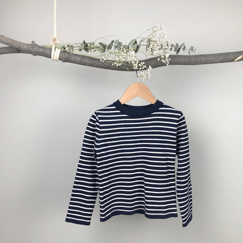 Classic Striped Knit, Navy (6-7Y)