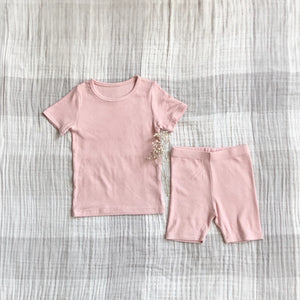 Ribbed Light Daily Set, Pink