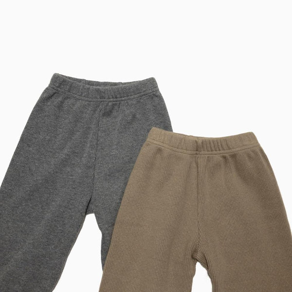 Ribbed Easy Pants, Olive