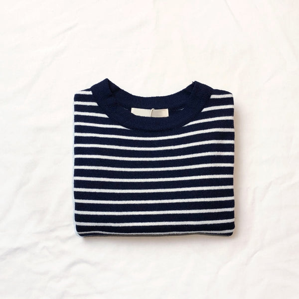 Classic Striped Knit, Navy