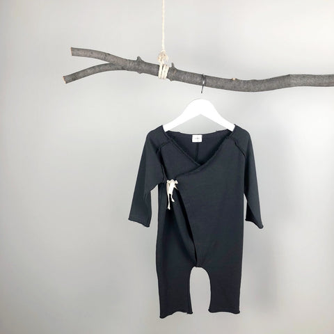 Soft Dream Jumpsuit, Charcoal (12-24M)