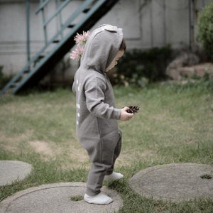 Soft Bambi Romper, Grey (12-18m)