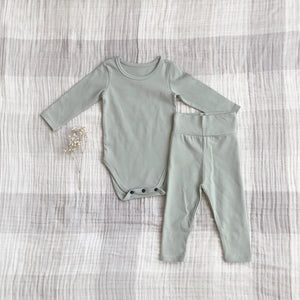 Solid Daily Baby Onesie Set, Light Sage