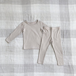 Solid Daily Set, Light Taupe (12-18m)