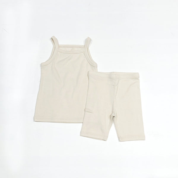 Sleeveless Daily Set, Cream