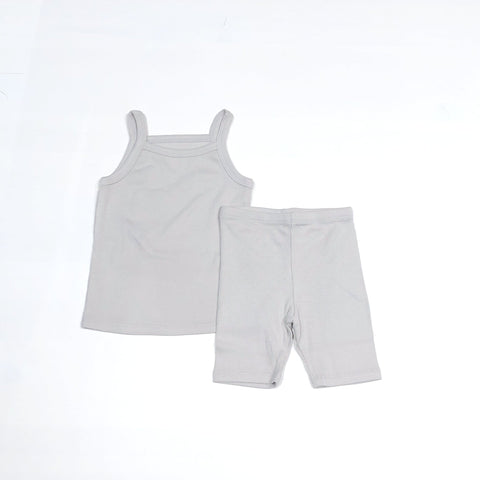 Sleeveless Daily Set, Light Grey