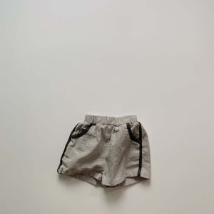 Milk Striped Shorts, Charcoal