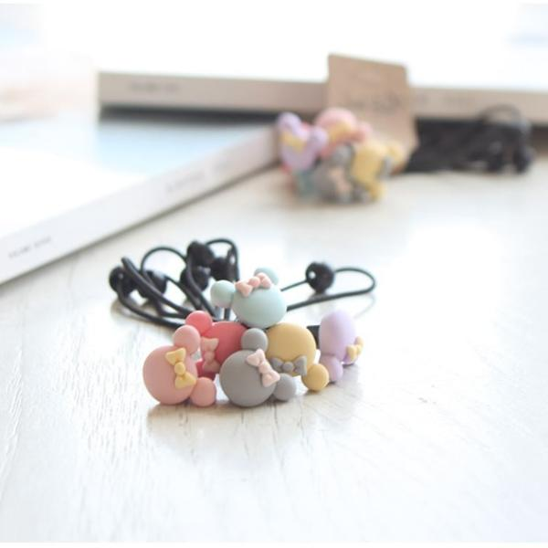Pastel Mickey Hair Bobble (Set of 6)