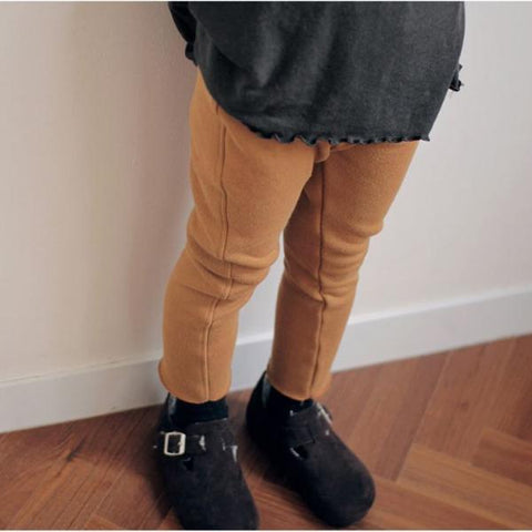 Fur Inner Leggings Pants, Orange Brown (3-5Y)