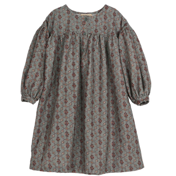 Franc Printed Dress, Light Grey (3-5Y, last)