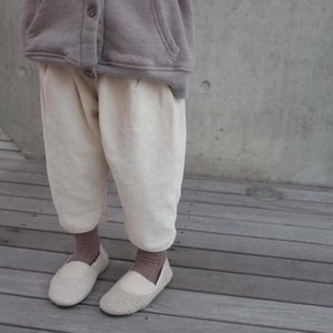 Corduroy Fleece Pants, Ivory