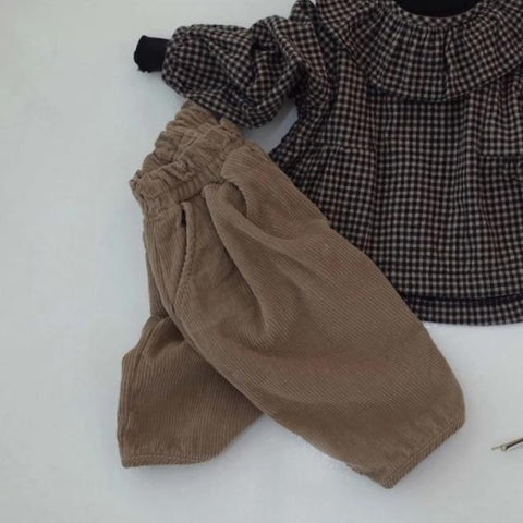 Corduroy Fleece Pants, Taupe