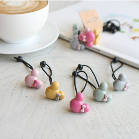Macaron Mickey Hair Bobble (Set of 5)