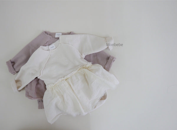 Monbebe. Soft Dream Tutu Romper, Dusty Pink