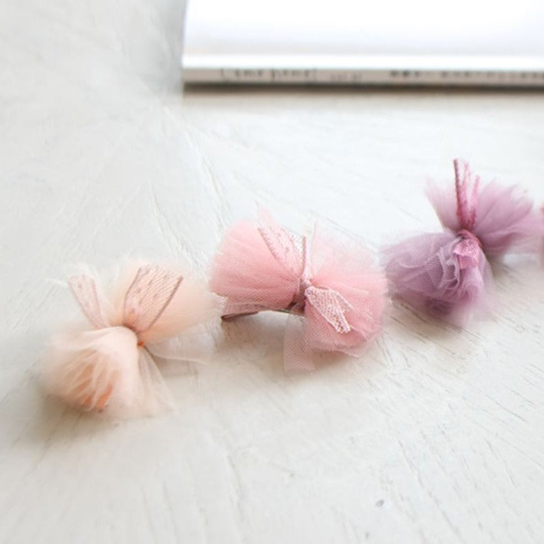 Tulle Ribbon Clip, 3 Colours