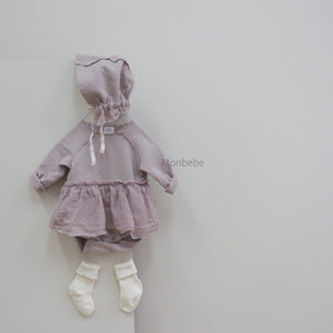 Soft Dream Tutu Romper, Dusty Pink