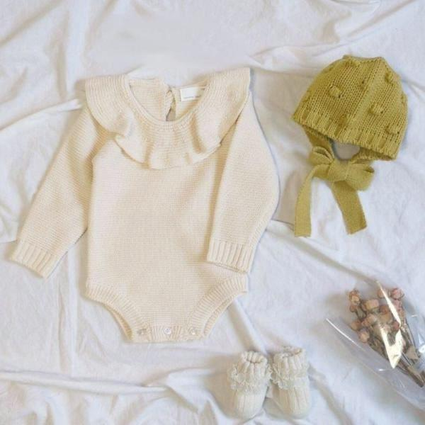 Lovely Knit Romper, Cream