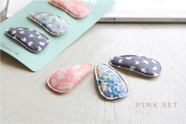 Floral Fabric Clip Set (Set of 3)