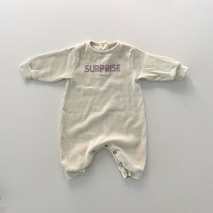 Surprise Ribbed Romper, Ivory
