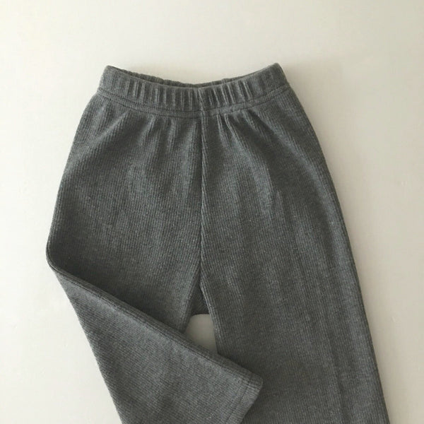 Ribbed Easy Pants, Grey