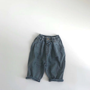 Retro Relaxed Denim Pants