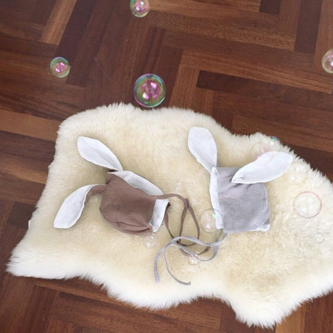 Cotton Bunny Bonnet, 2 Colours