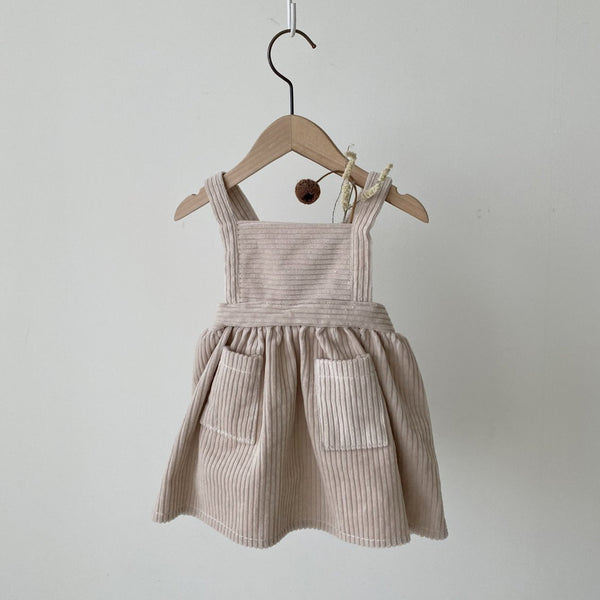 Caramel Corduroy Dress, Natural
