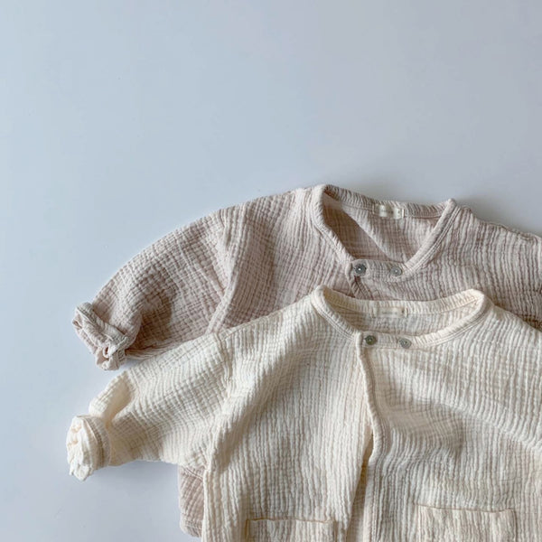 Wrap Simple Cardigan, Ivory
