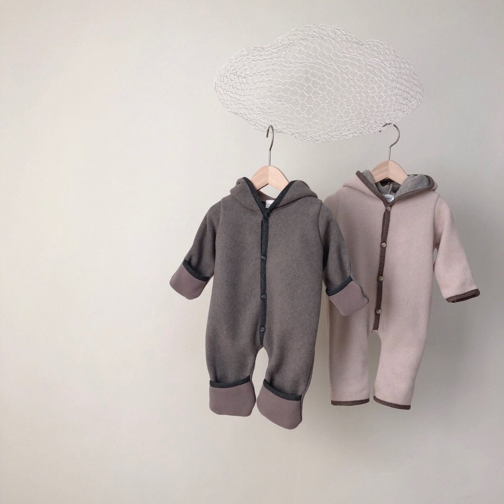 Handmade Winter Jumpsuit, Grey (6-12m)