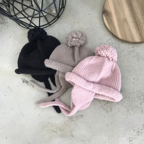 Rolly Pom Beanie, 3 Colours