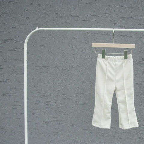 Soft Pintuck Pants, Ivory