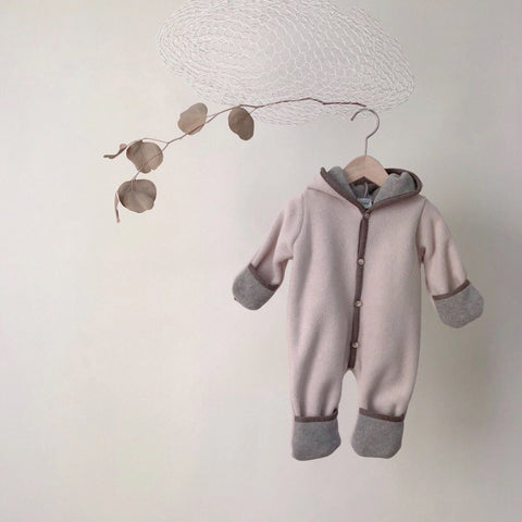 Handmade Winter Jumpsuit, Cream Beige