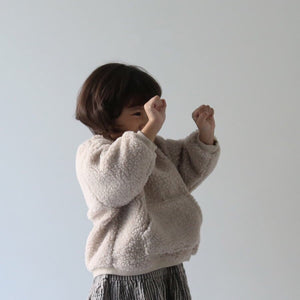 Nova Pocket Sweatshirt, Beige (5-6Y, last one)